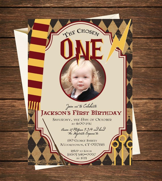 Harry Potter Party Invitation New Harry Potter Birthday Invitation Harry Potter First Birthday