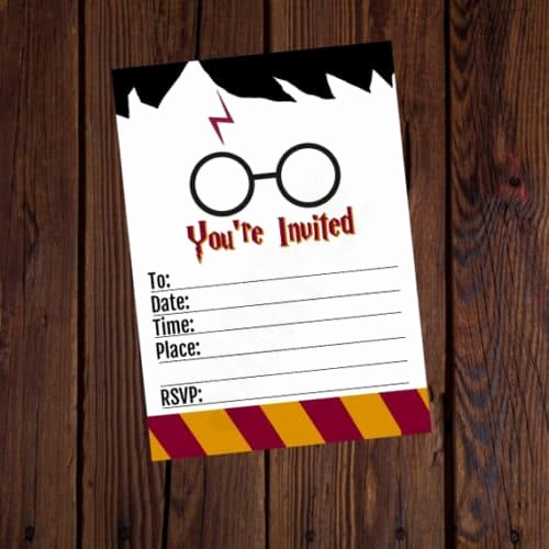 Harry Potter Party Invitation Template Fresh the Best Harry Potter Birthday Party Ideas