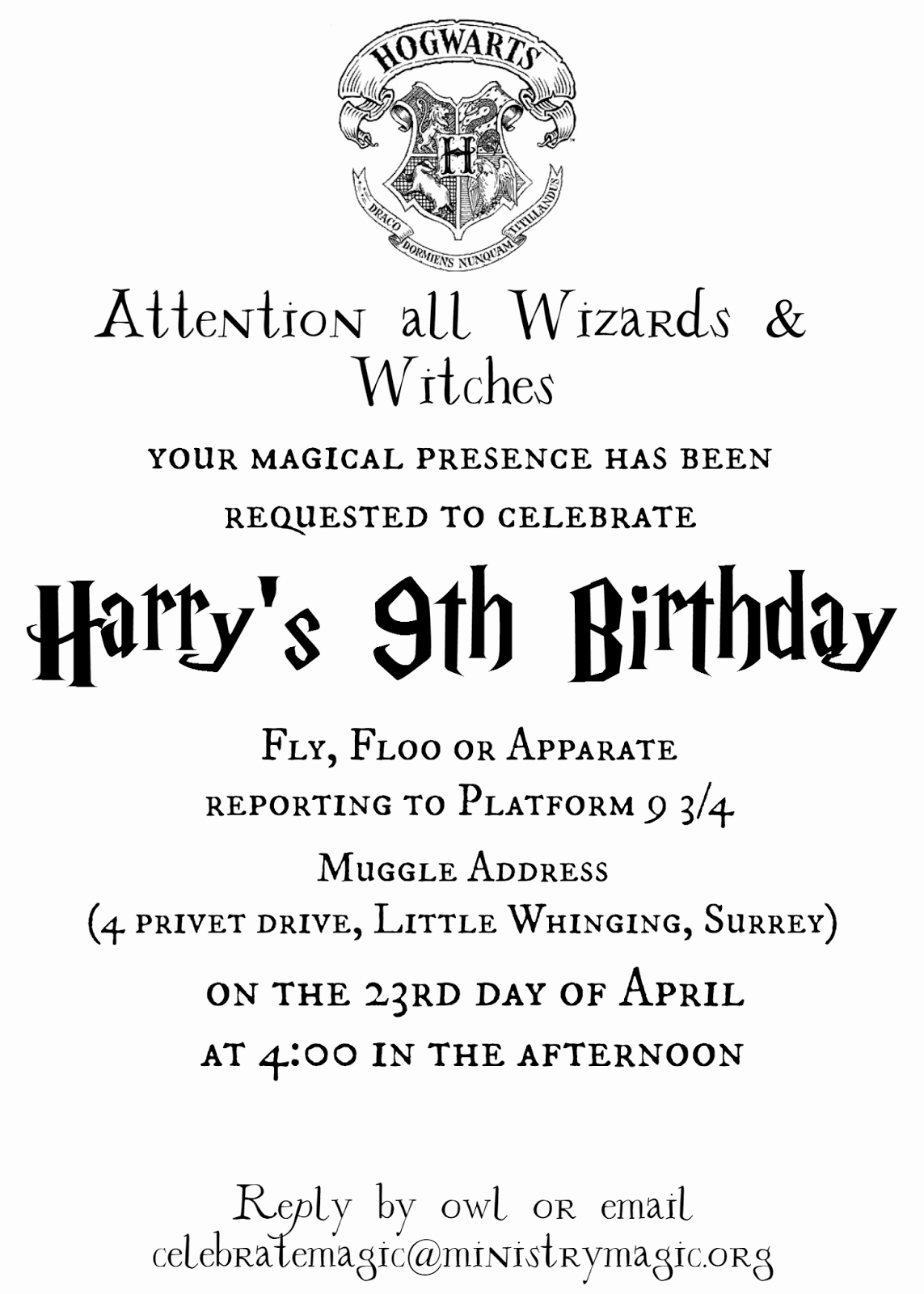Harry Potter Party Invitation Template Luxury Tattered and Inked Harry Potter Party Free Printables and