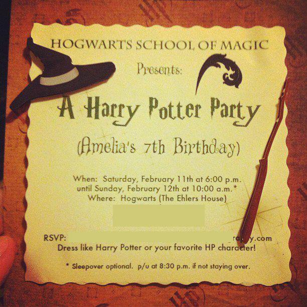 Harry Potter Party Invitation Template Unique Letter Harry Potter Birthday Invitations Printable