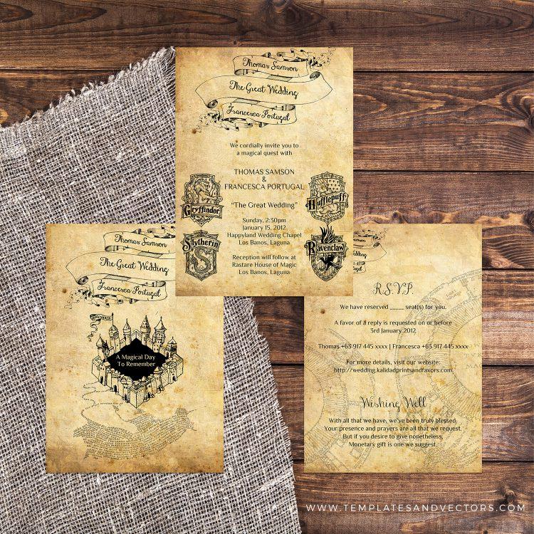 Harry Potter Wedding Invitation Awesome Harry Potter Wedding Invitation Diy Printable Template