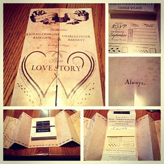 Harry Potter Wedding Invitation Beautiful Unavailable Listing On Etsy