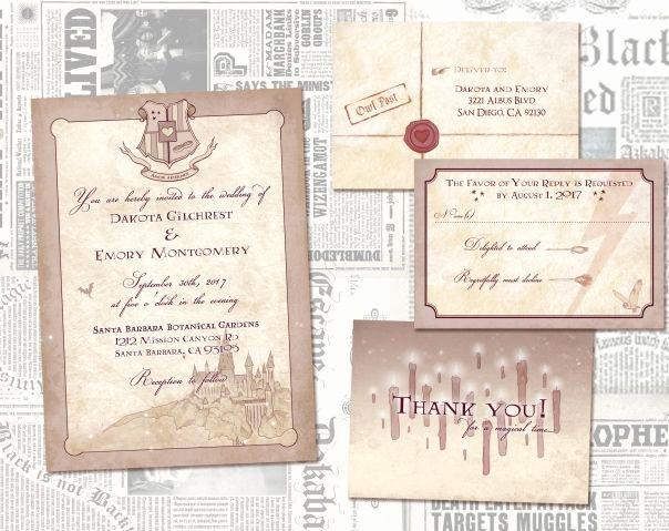 Harry Potter Wedding Invitation Best Of 25 Beste Ideeën Over Harry Potter Uitnodigingen Op