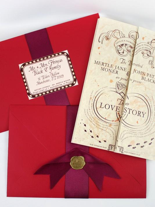 Harry Potter Wedding Invitation Fresh Hp themed Wedding Invites Potter