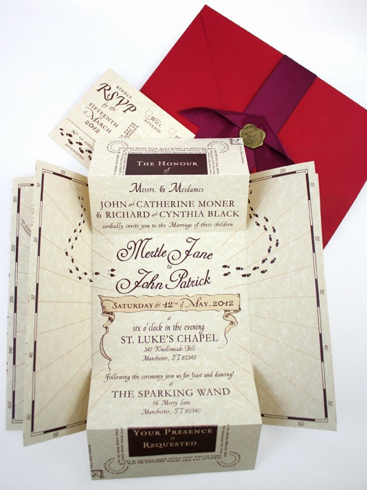 Harry Potter Wedding Invitation Lovely 52 Best Harry Potter Weddings Images On Pinterest