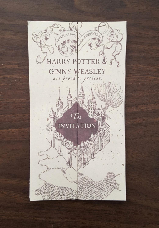 Harry Potter Wedding Invitation Lovely Harry Potter Invitations Template Wedding Birthday