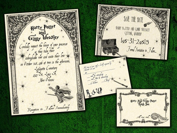 Harry Potter Wedding Invitation New Harry Potter Quidditch Wedding Invitation Save the Date