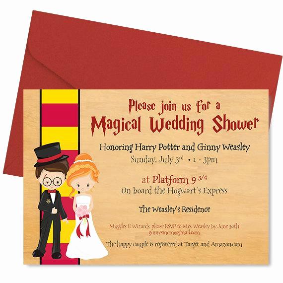 harry potter wedding shower invitation