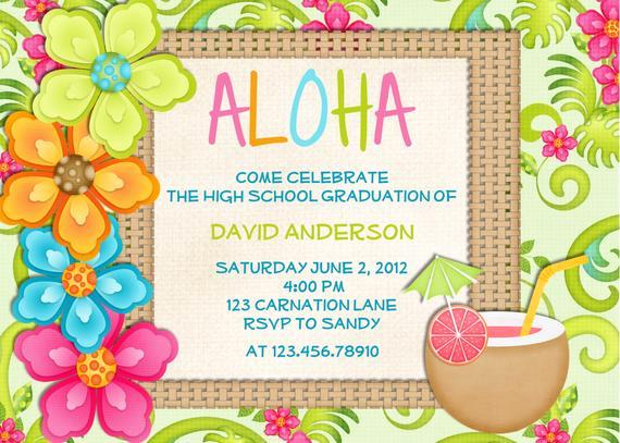 Hawaiian Party Invitation Template Awesome Luau Birthday Invitation Sweet 16 Tropical Hawaiian Hula Party
