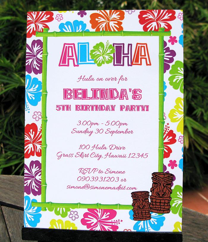 Hawaiian Party Invitation Template Beautiful Luau Birthday Party Invitations