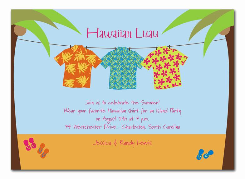 Hawaiian Party Invitation Template Elegant Blogsinteractive Blog