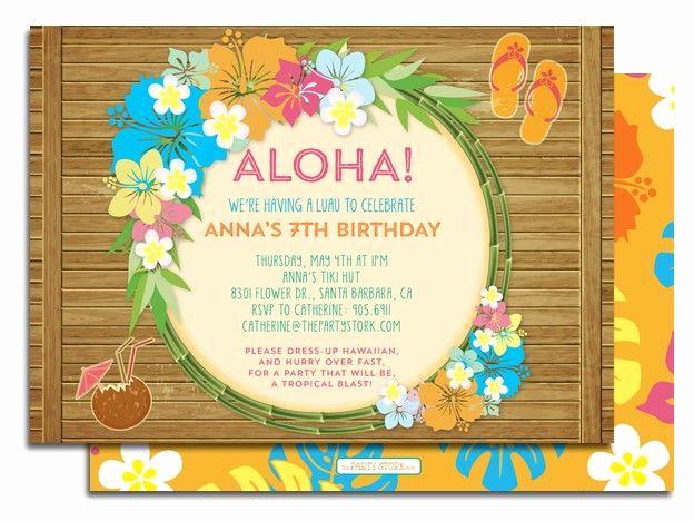 Hawaiian Party Invitation Template Fresh Best 25 Luau Birthday Invitations Ideas On Pinterest