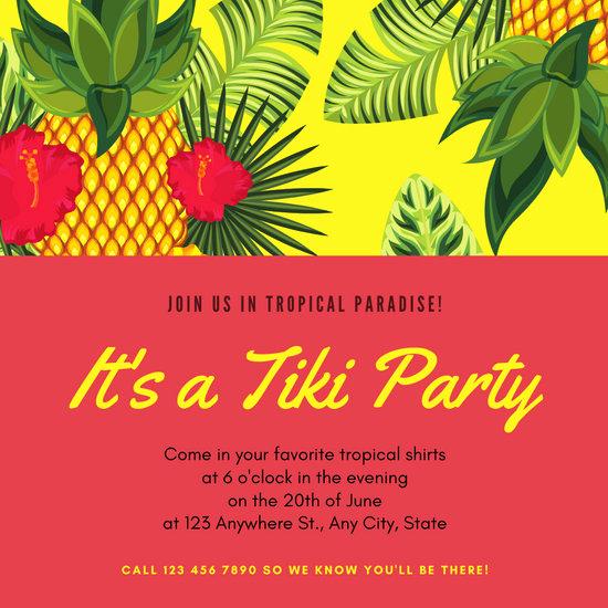Hawaiian Party Invitation Template Inspirational Customize 2 423 Hawaiian Party Invitation Templates