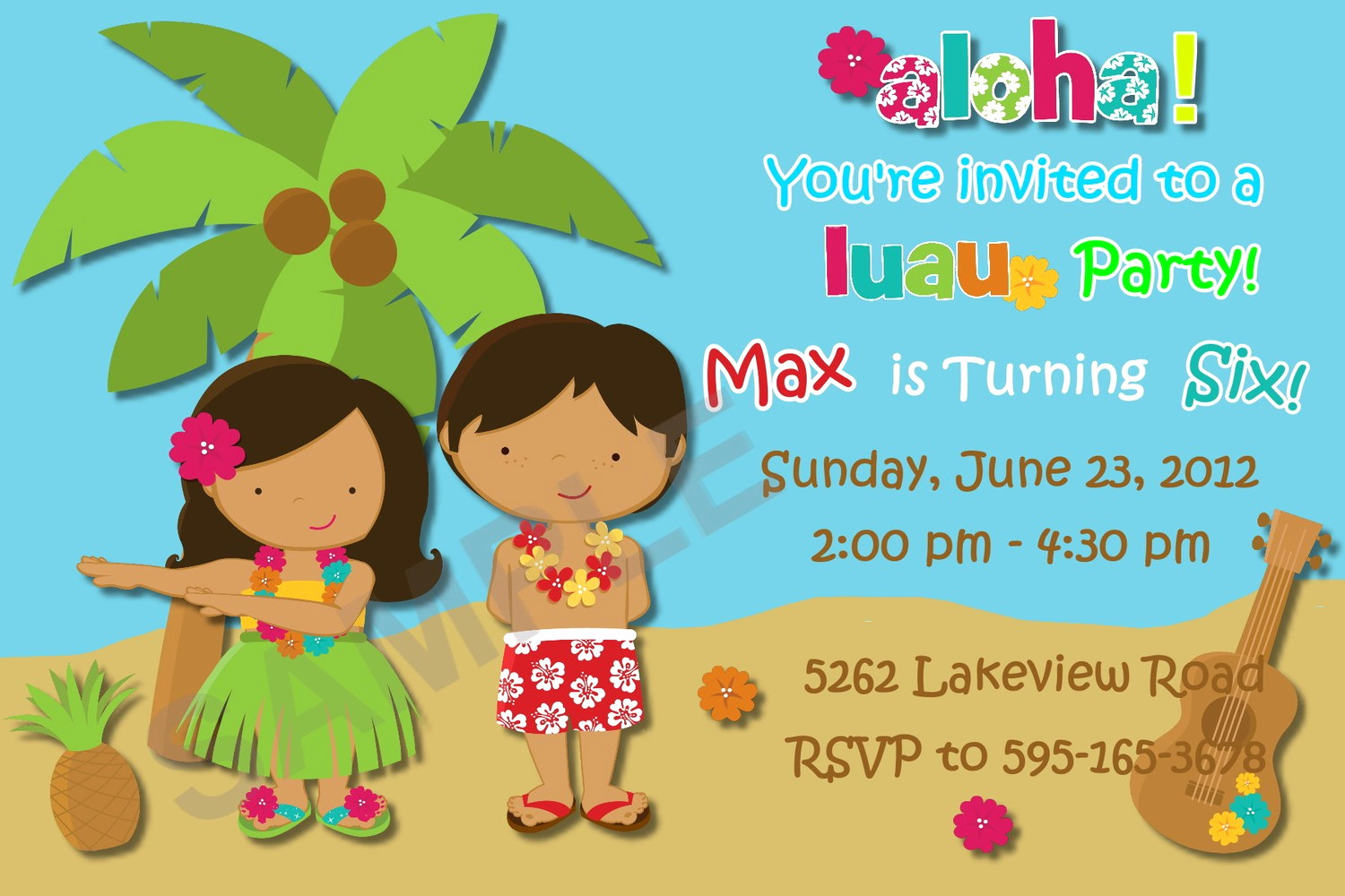 Hawaiian Party Invitation Template Inspirational Others Custom Luau Invitations for Your Tropical Getaway
