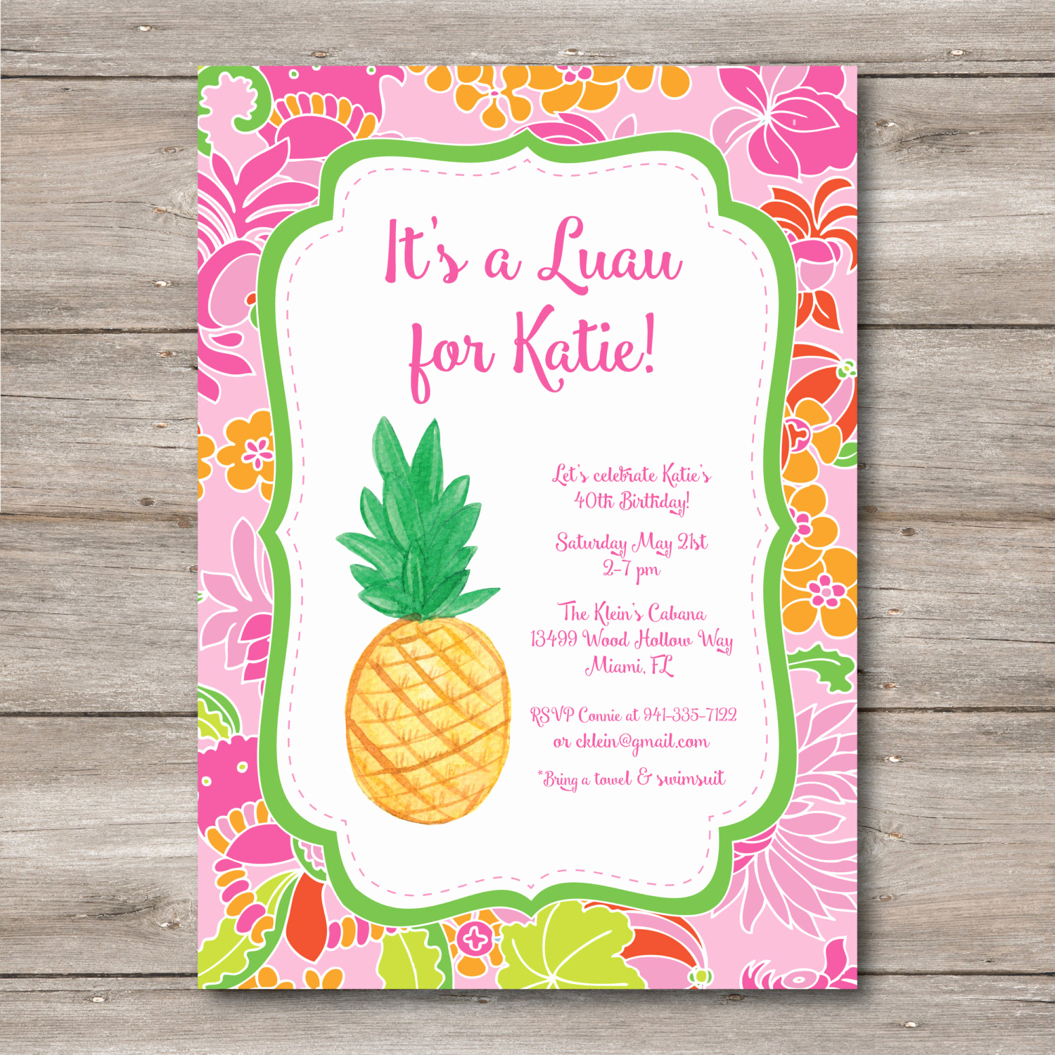 Hawaiian Party Invitation Template New Luau Invitation with Editable Text to Print at Home Diy Luau