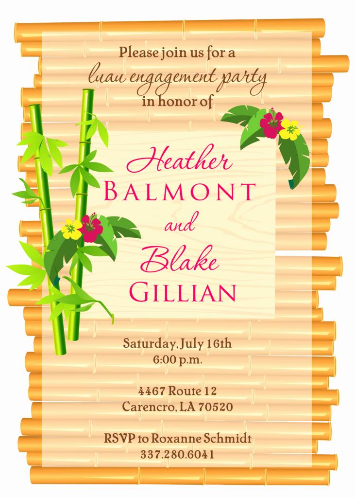 Hawaiian Party Invitation Template New Luau Invitations Templates