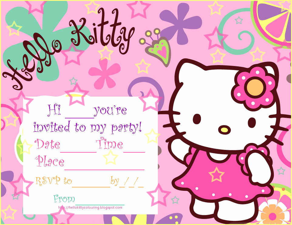 Hello Kitty Birthday Invitation Beautiful Hello Kitty Birthday Invitations Ideas – Free Printable