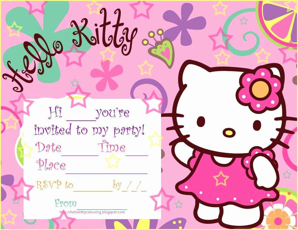 Hello Kitty Birthday Invitation Beautiful Pretty Practical Mom Free Printable Hello Kitty Invitations