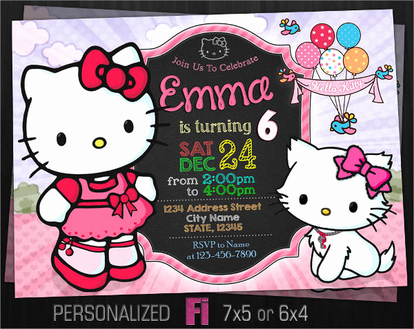 Hello Kitty Birthday Invitation Best Of 11 Hello Kitty Invitations Word Psd Indesign