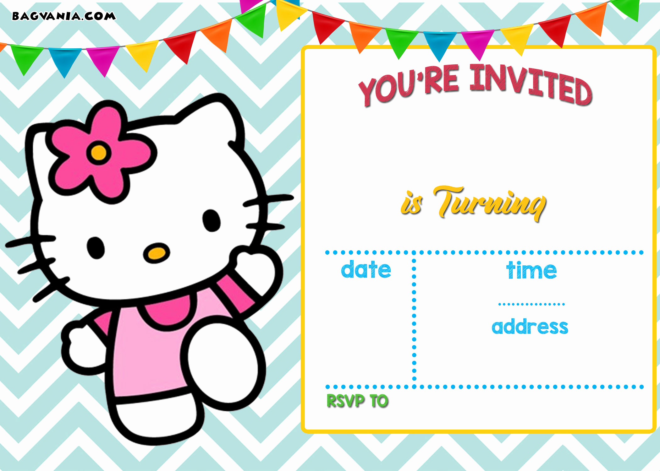 Hello Kitty Birthday Invitation Best Of Free Personalized Hello Kitty Birthday Invitations