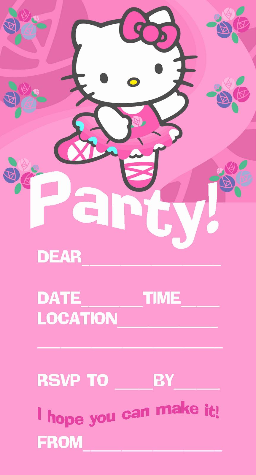 Hello Kitty Birthday Invitation Best Of Hello Kitty Birthday Invitations Free