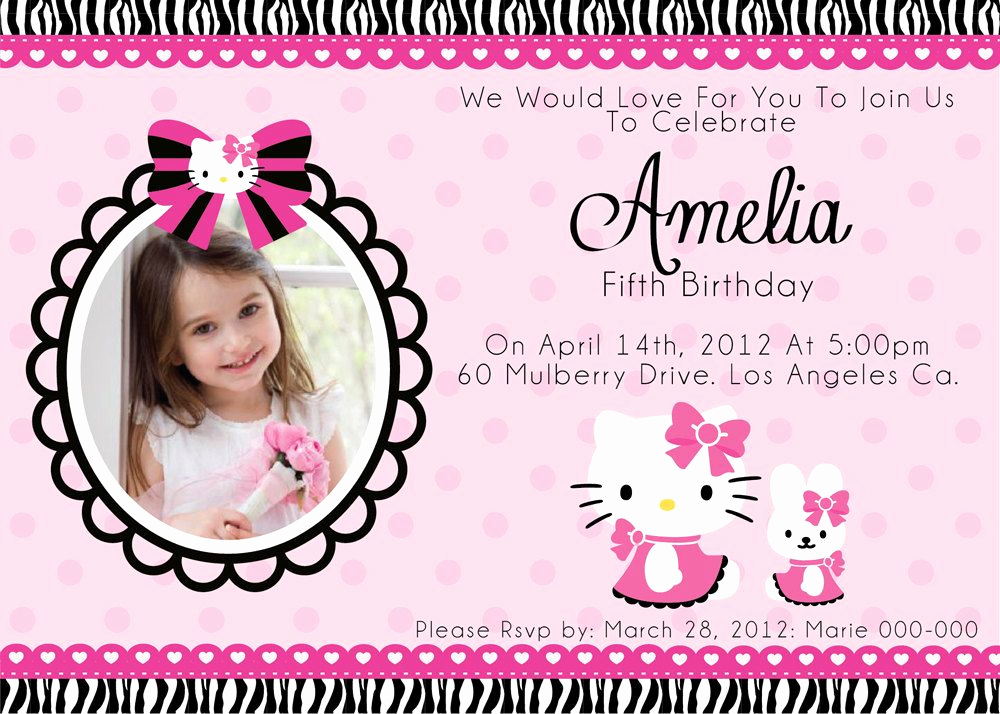 Hello Kitty Birthday Invitation Elegant Free Printable Hello Kitty Invitation Card