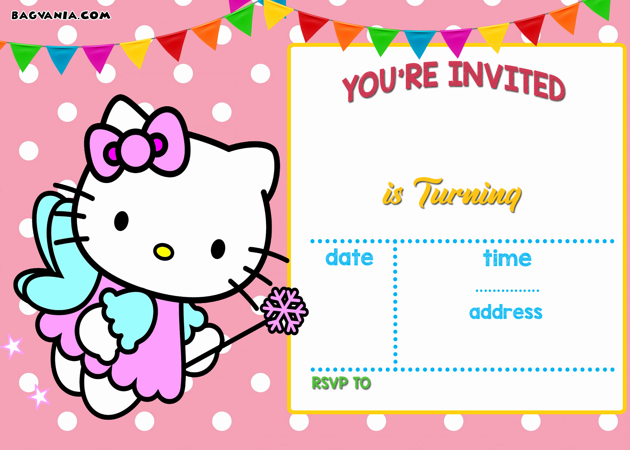 Hello Kitty Birthday Invitation Fresh Free Personalized Hello Kitty Birthday Invitations