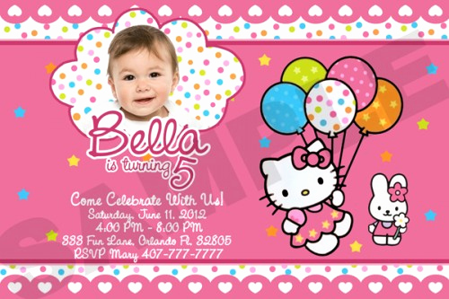 Hello Kitty Birthday Invitation Fresh Hello Kitty Birthday Party Invitations Free Invitation