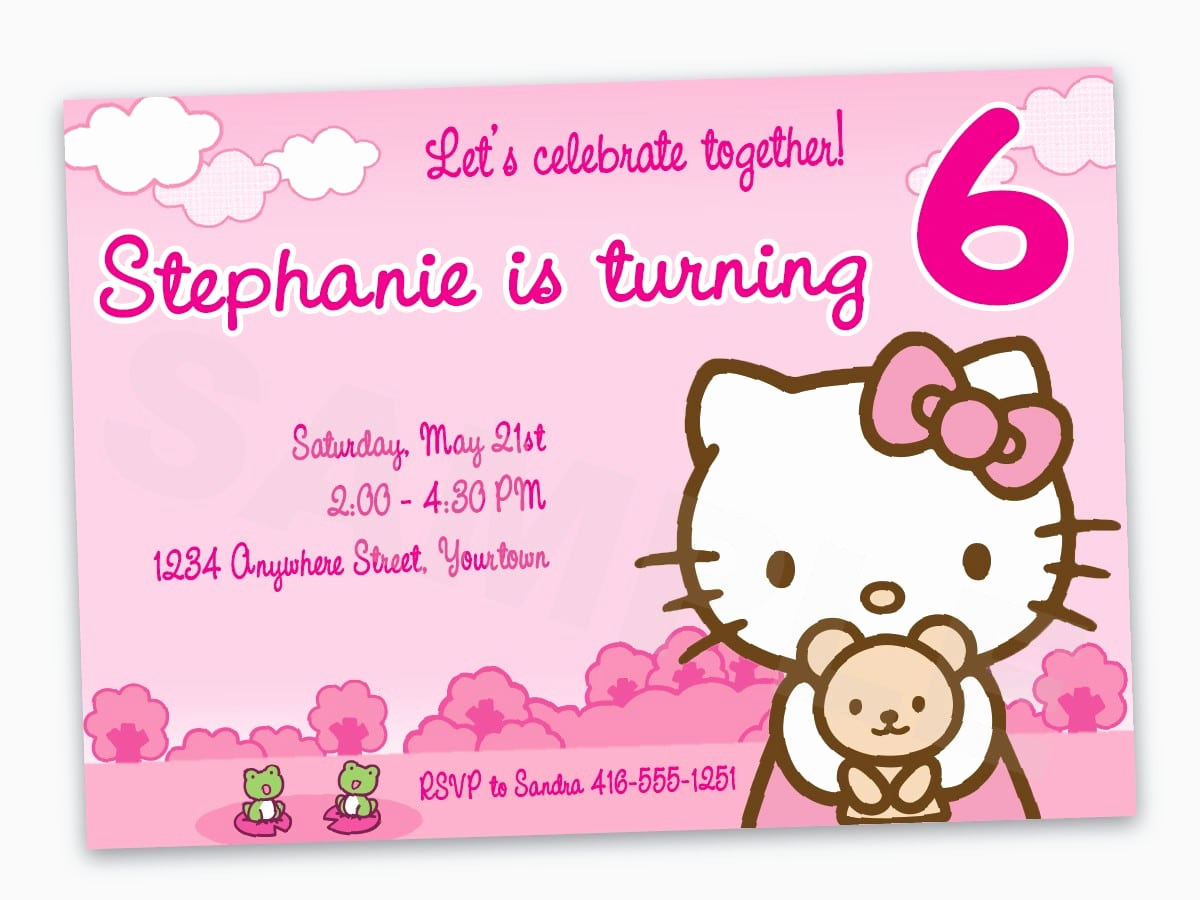 Hello Kitty Birthday Invitation Inspirational Free Printable Hello Kitty Birthday Invitation