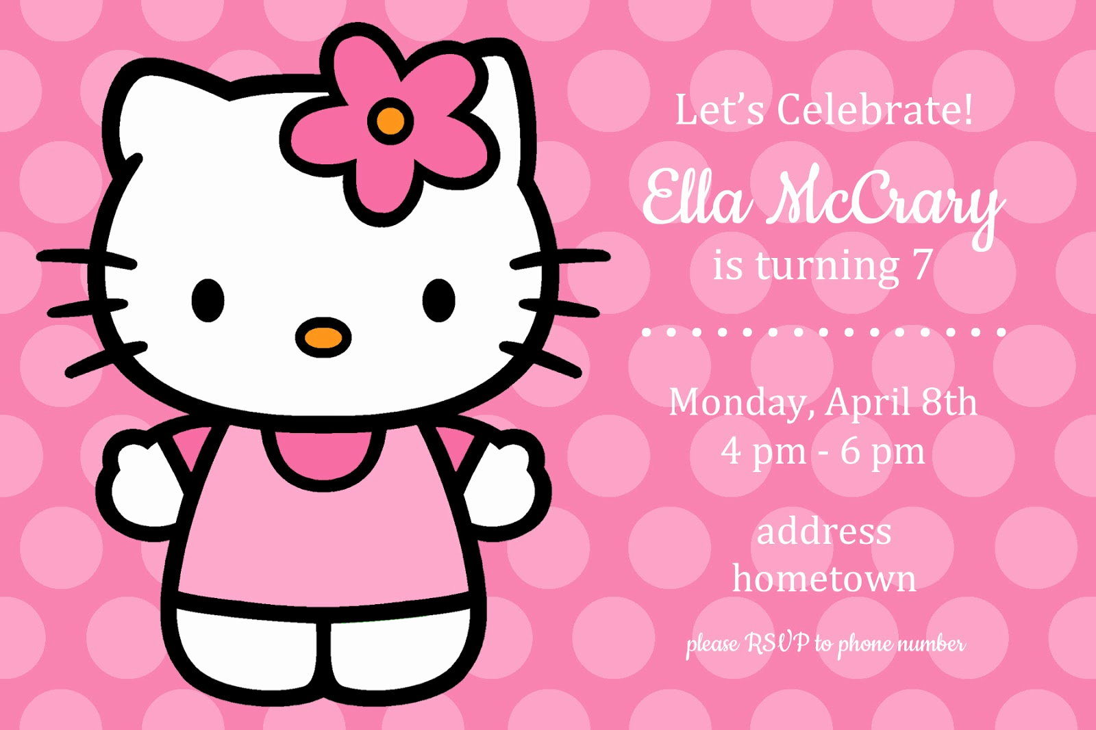 Hello Kitty Birthday Invitation Lovely All Things Simple Simple Celebrations Hello Kitty Party