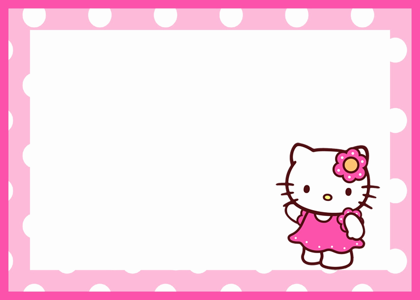 Hello Kitty Birthday Invitation Luxury Hello Kitty Free Printable Invitation Templates