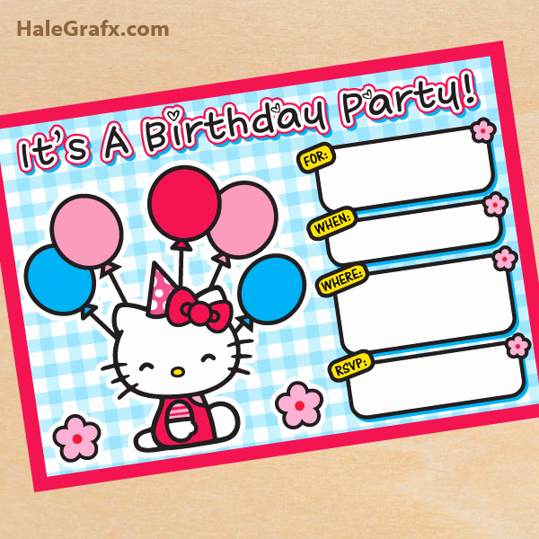 Hello Kitty Birthday Invitation New Free Printable Hello Kitty Birthday Invitation