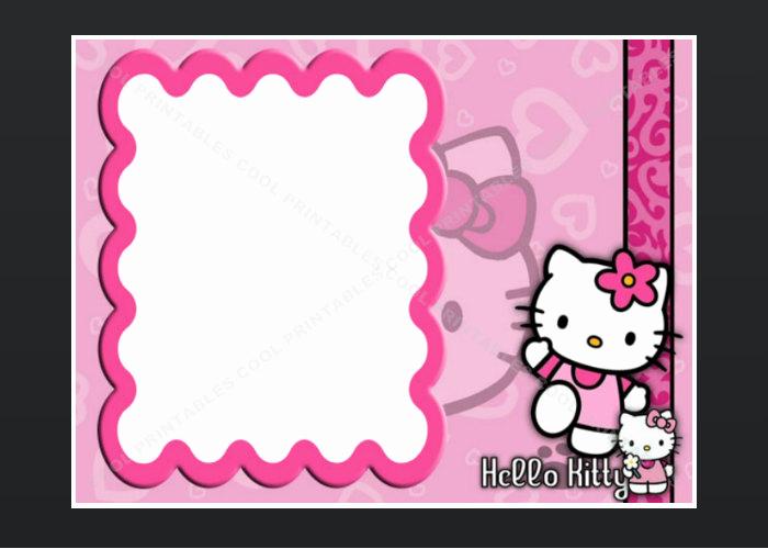 Hello Kitty Invitation Card Awesome Hello Kitty Blank Invitation Birthday Thank You by