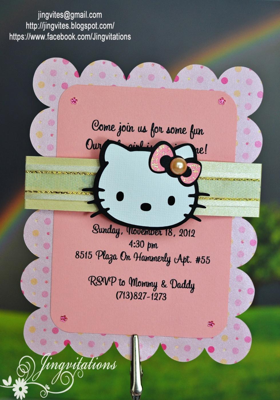 hello kitty birth announcement