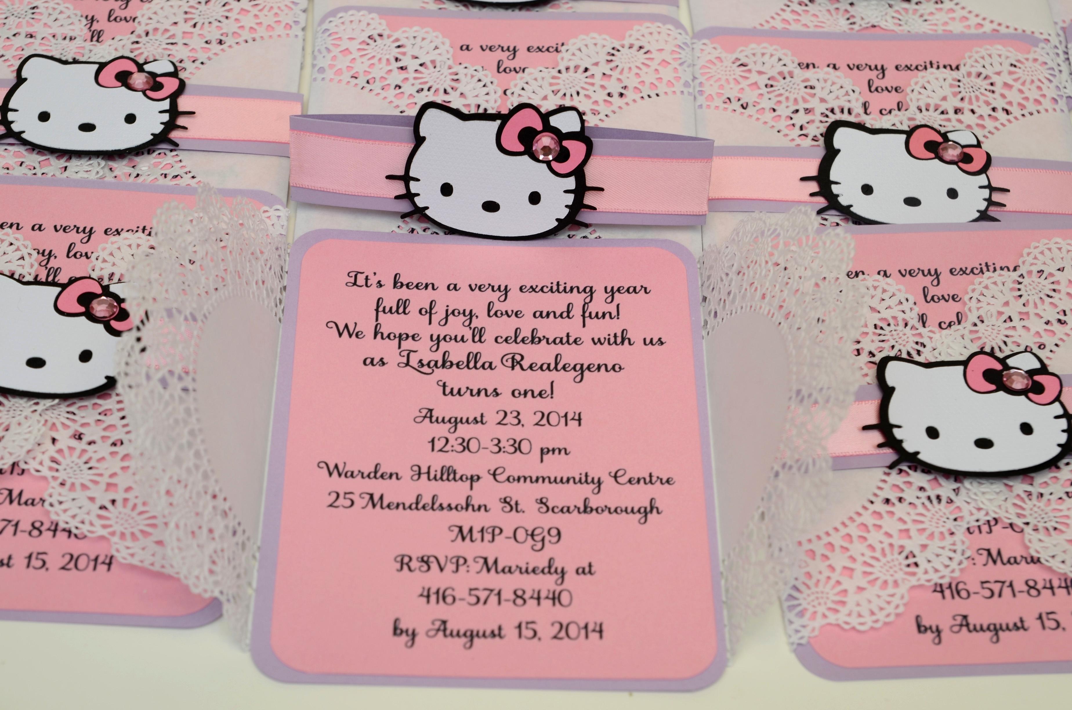 Hello Kitty Invitation Card Beautiful Hello Kitty