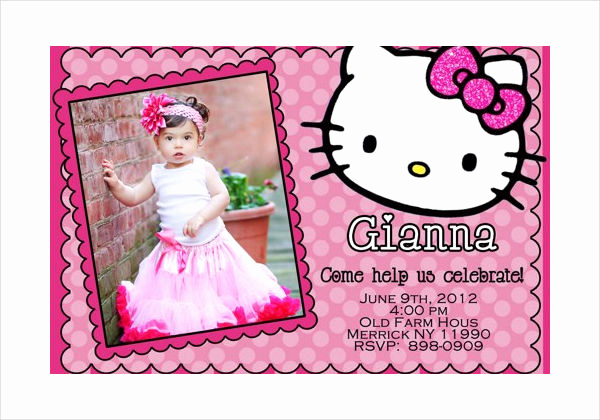Hello Kitty Invitation Card Fresh 58 Sample Birthday Invitation Templates Psd Ai Word