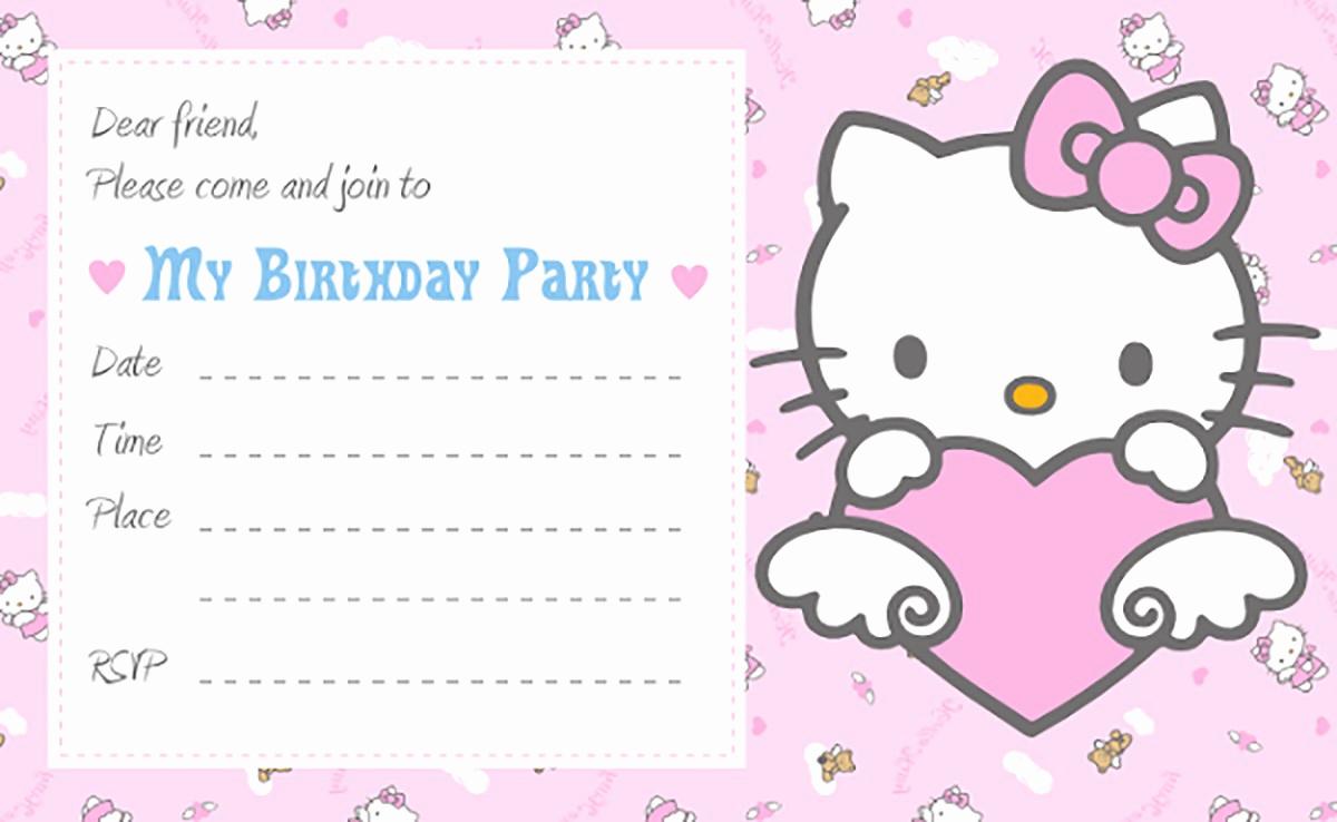 Hello Kitty Invitation Card Inspirational Hello Kitty Free Printable Invitation Templates