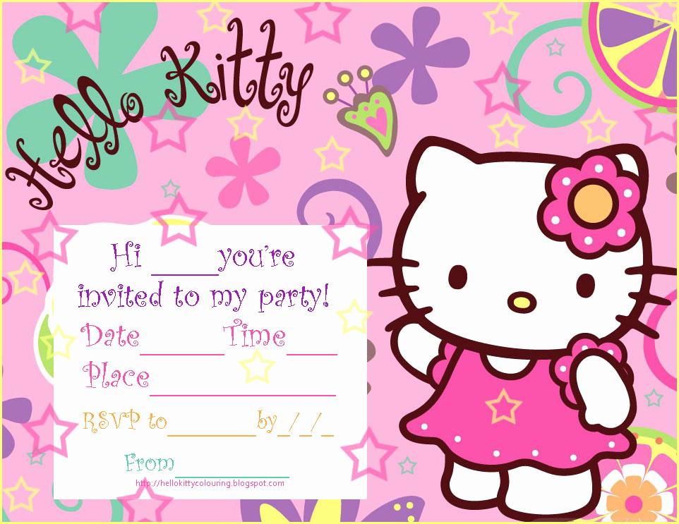 Hello Kitty Invitation Card Inspirational Invitations to Sleepover Party Hello Kitty