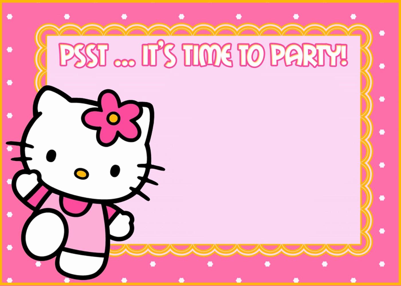 Hello Kitty Invitation Card Luxury Hello Kitty Free Printable Invitation Templates