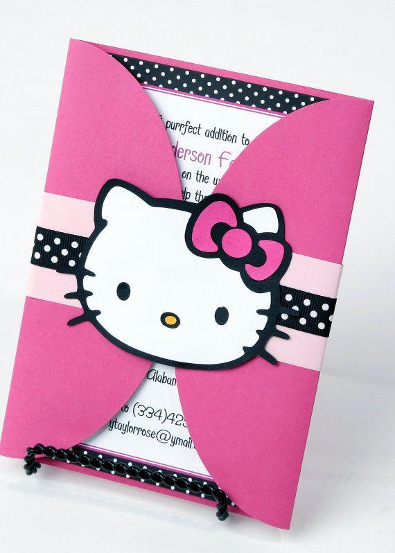 Hello Kitty Invitation Card New 25 Best Ideas About Hello Kitty Invitations On Pinterest