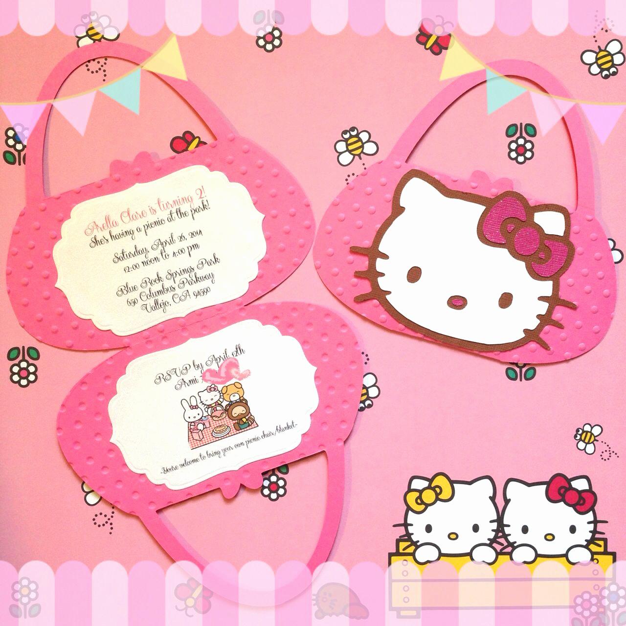 Hello Kitty Invitation Card New Hello Kitty Purse Invitation