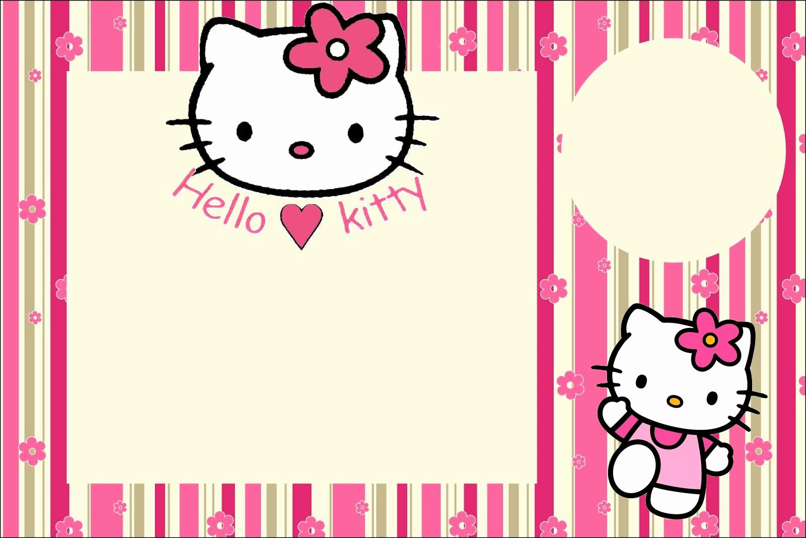 Hello Kitty Invitation Card New Imprimibles De Hello Kitty 14