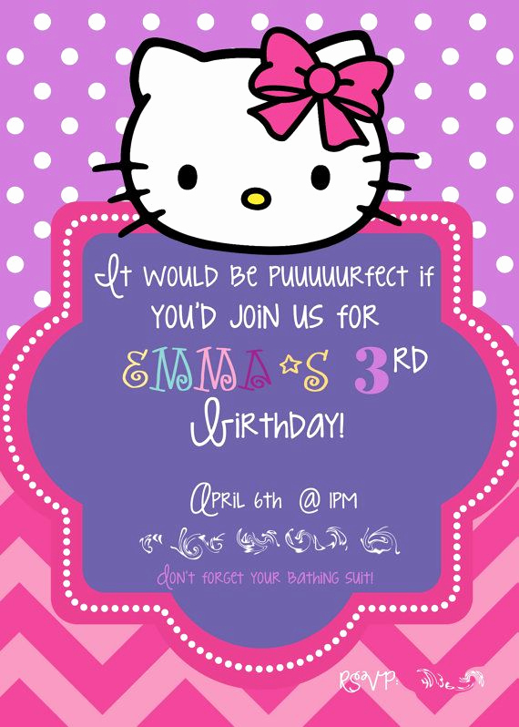 Hello Kitty Invitation Template Best Of 581 Best Images About Hello Kitty On Pinterest