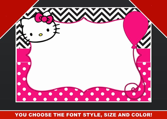 Hello Kitty Invitation Template Best Of Editable Hello Kitty Birthday Template Invitation