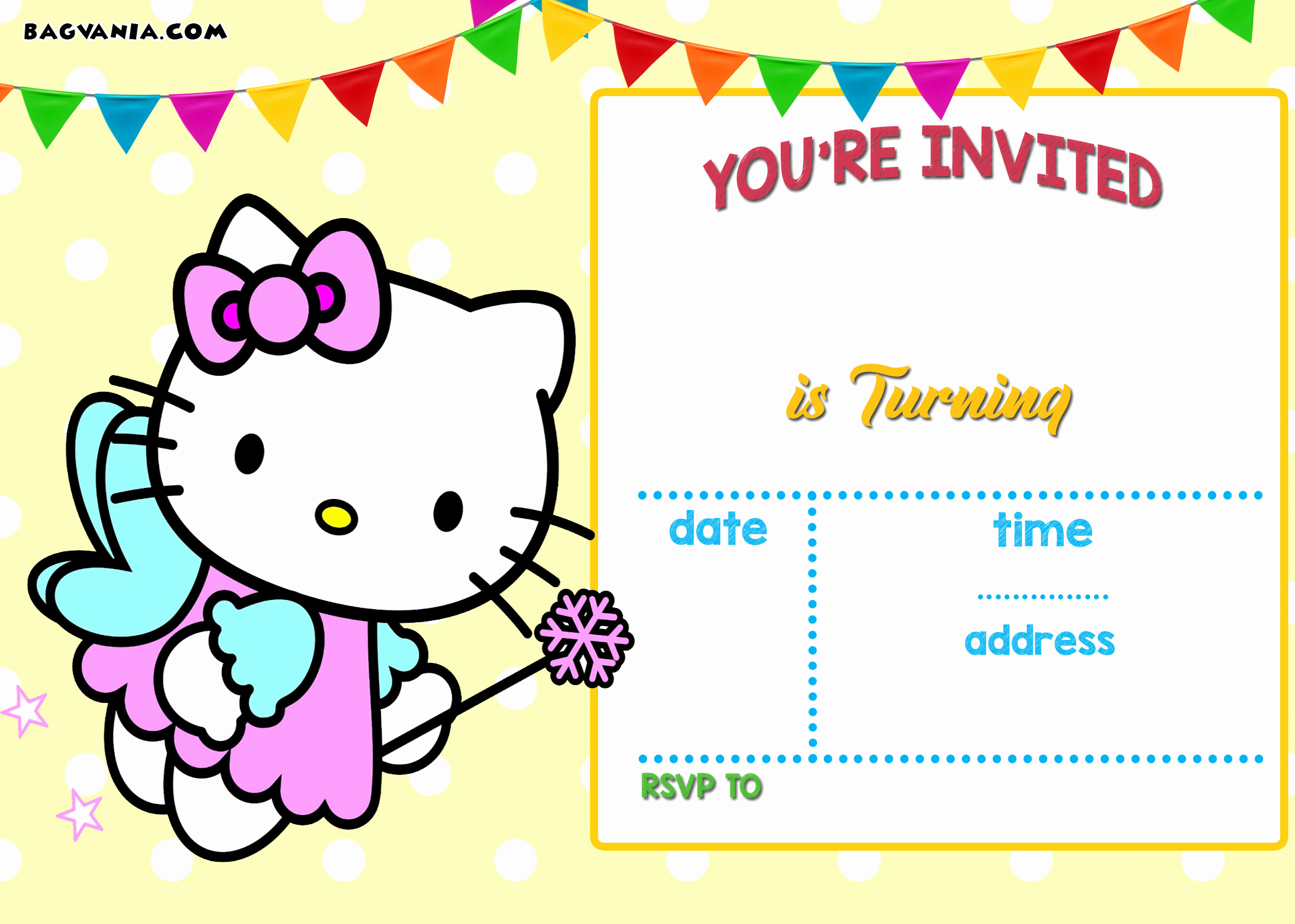 Hello Kitty Invitation Template Best Of Free Printable Hello Kitty Invitation Templates theme