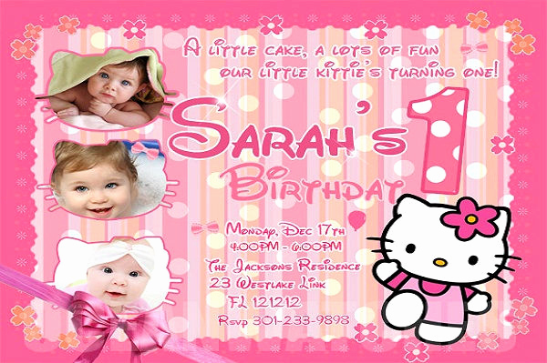 Hello Kitty Invitation Template Elegant 58 Sample Birthday Invitation Templates Psd Ai Word