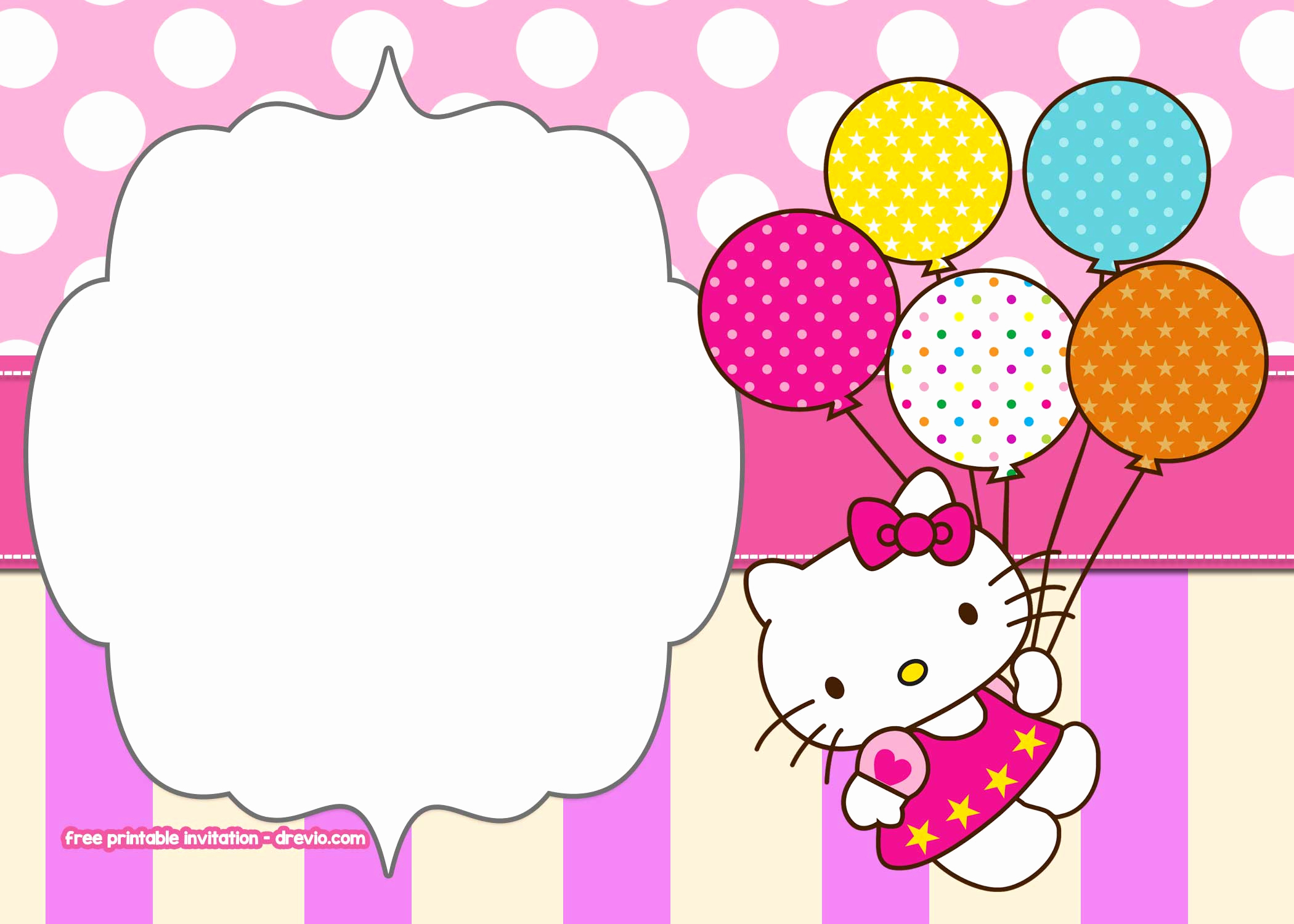 Hello Kitty Invitation Template Elegant Free Hello Kitty Birthday Invitation Templates – Free