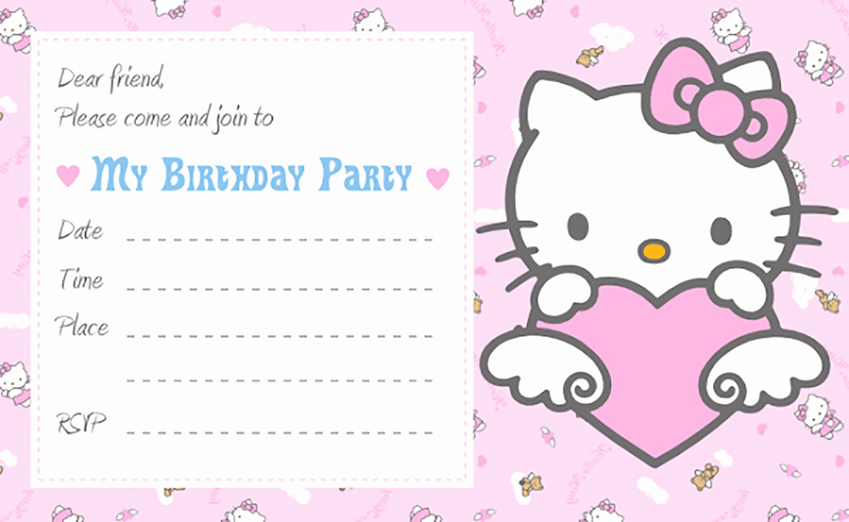 Hello Kitty Invitation Template Elegant Hello Kitty Free Printable Invitation Templates