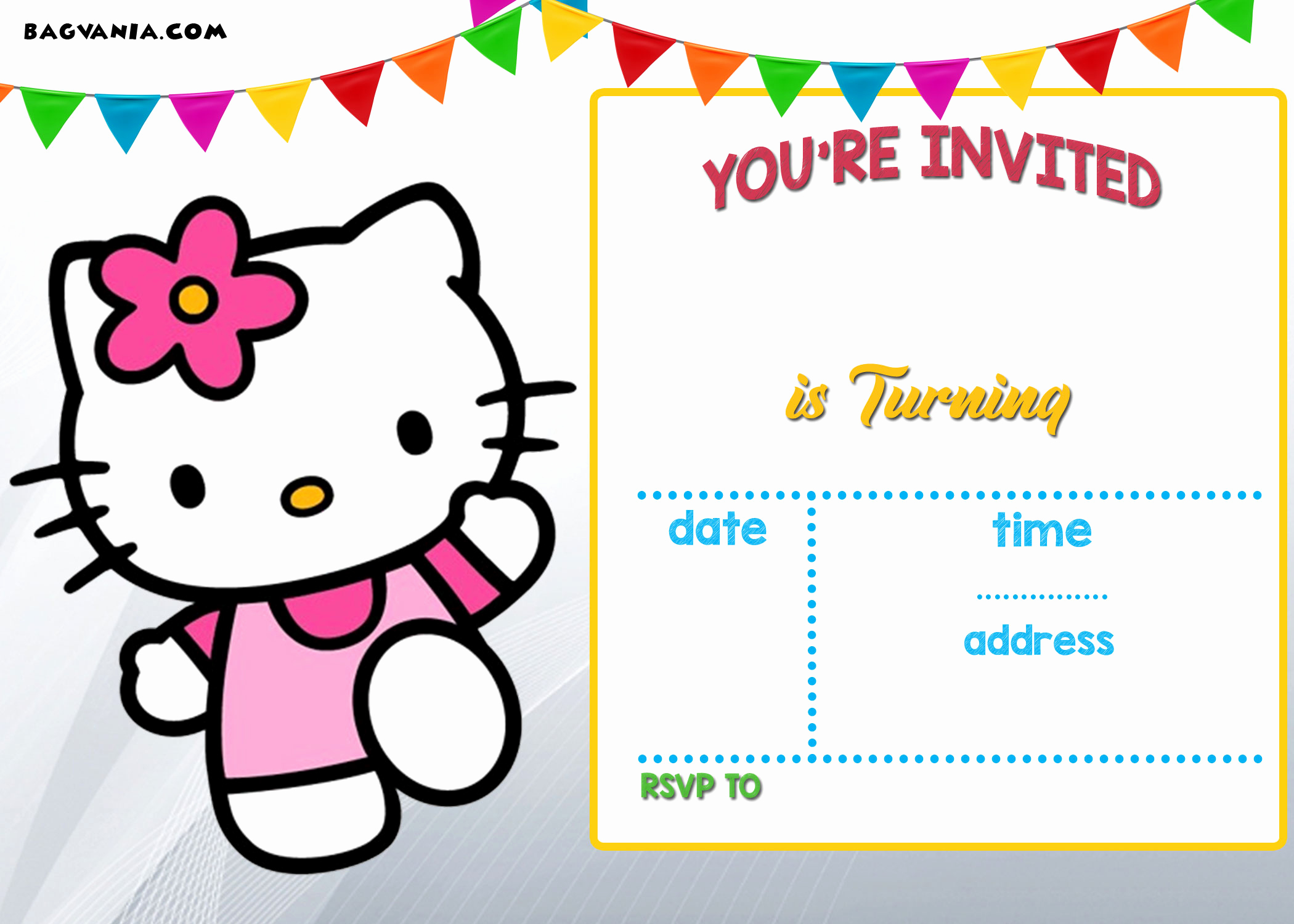 Hello Kitty Invitation Template Fresh Free Hello Kitty Invitation Templates