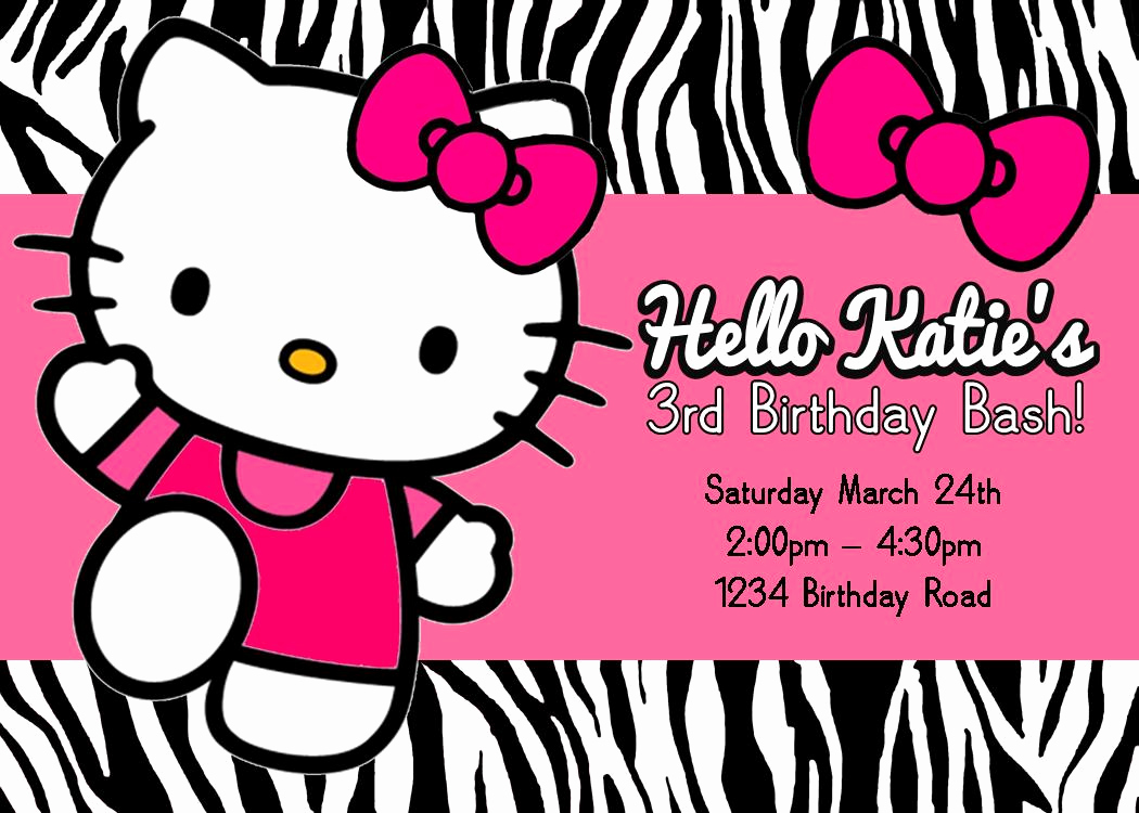Hello Kitty Invitation Template Inspirational Free Printable Hello Kitty Birthday Party Invitations